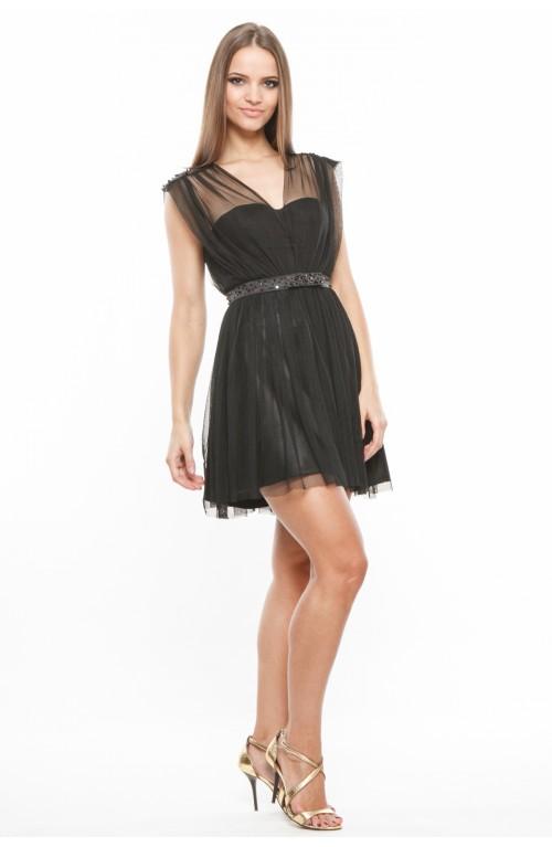Rochie corset cu cupe si aplicatii de margele manuale