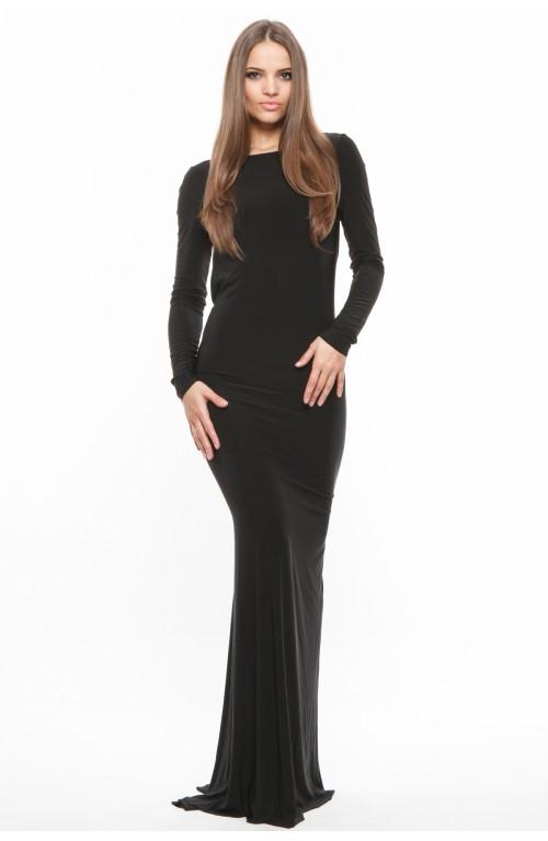 Rochie neagra cu spatele gol